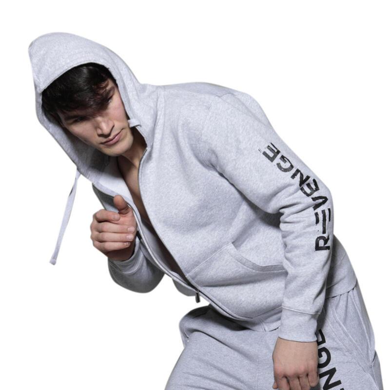 Sudadera hombre fitness y tiempo libre gris