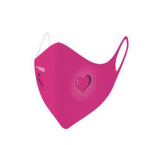 Máscaras de protección lavables covid-19 Kids corazón fucsia