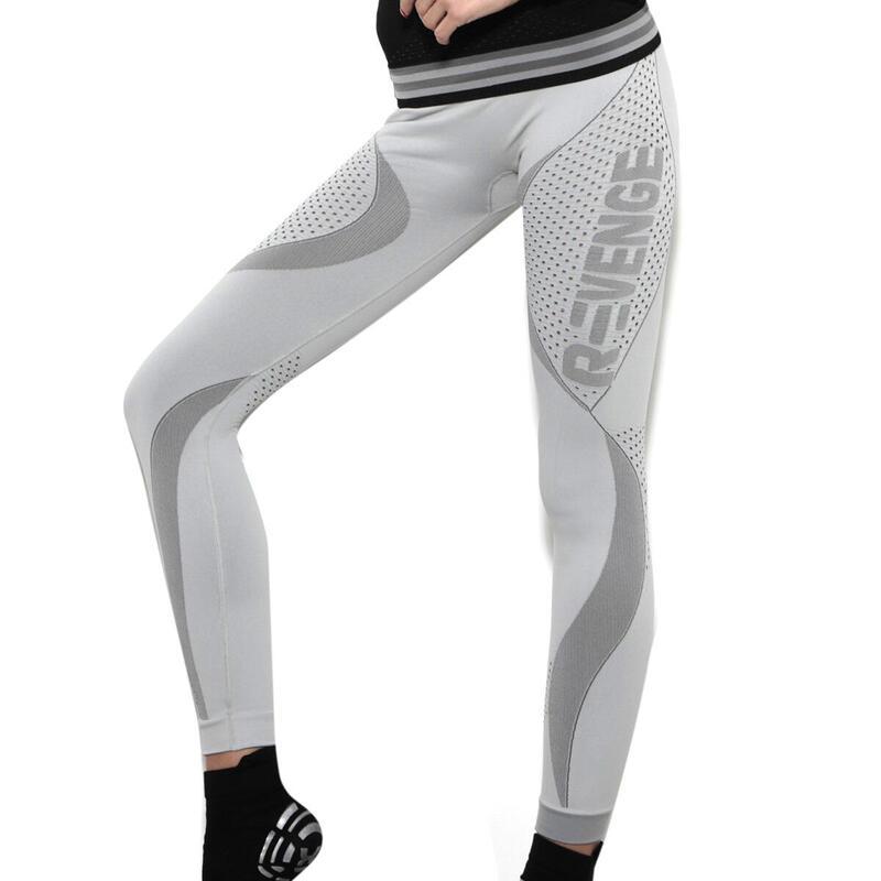Leggings tecnico donna Running termico e traspirante grigio perla