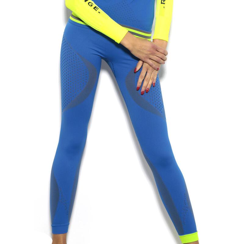 Pantalon Legging Technique Femme Running thermique et respirant Bleu