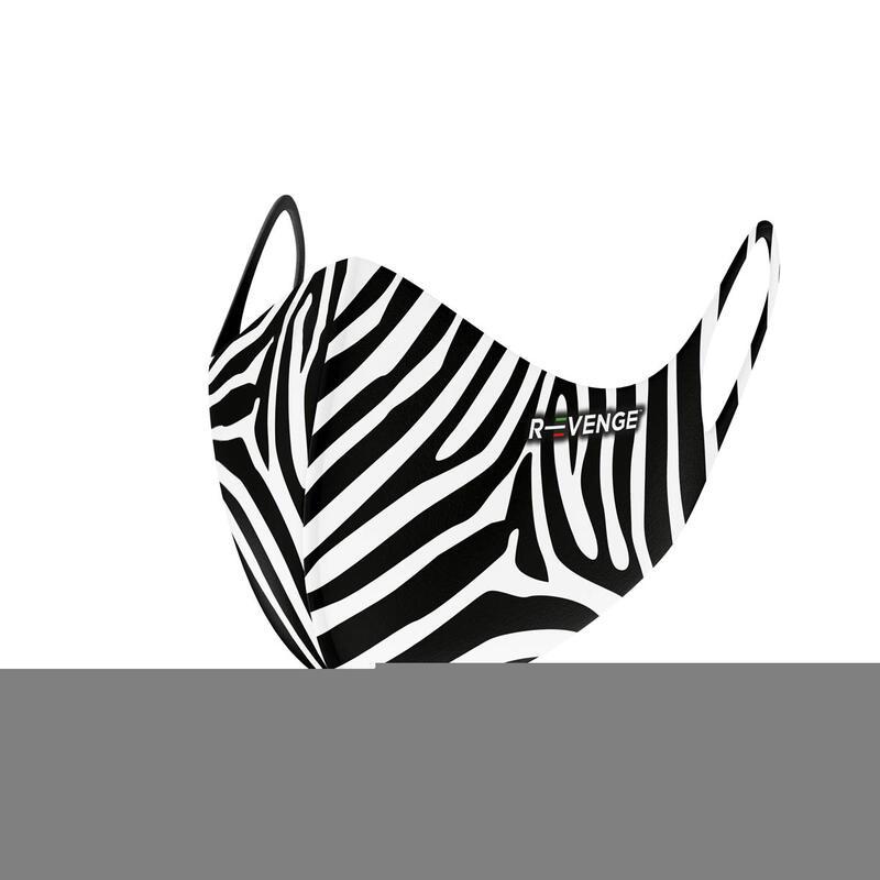 Masques barrières covid-19 femme lavables Superior Zebra noir