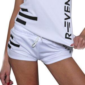 Shorts deportivos para mujer blanco