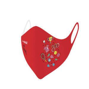 Máscaras de protección lavables covid-19 Kids Sport roja