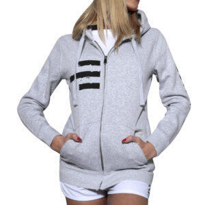 Sweatshirt femme fitness et free time gris