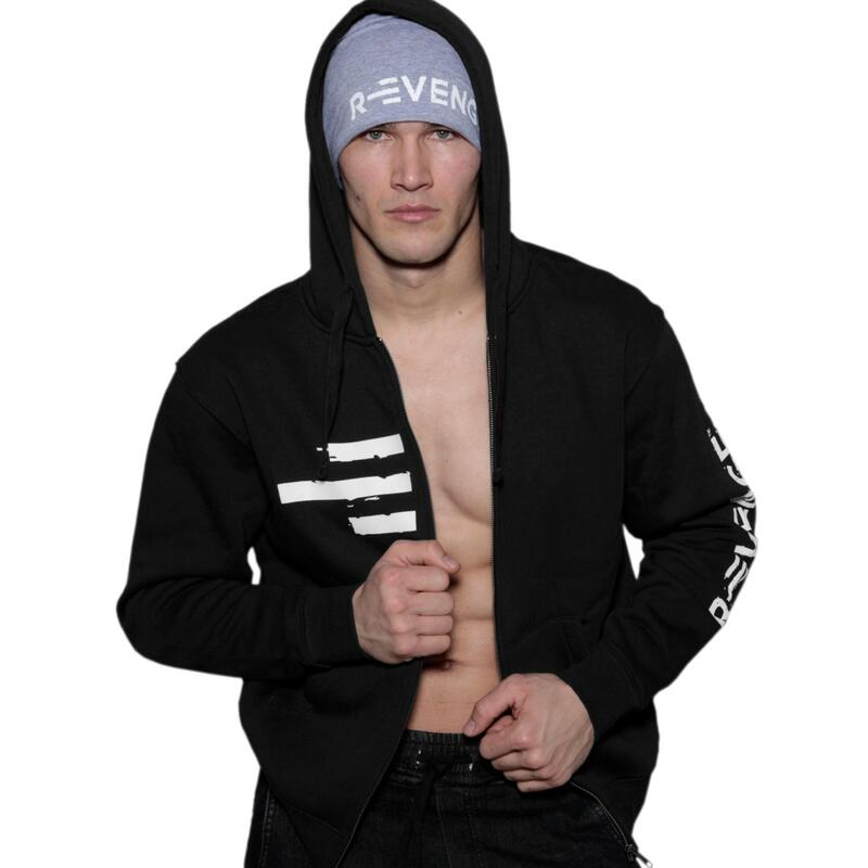 Sweatshirt homme fitness et free time noir