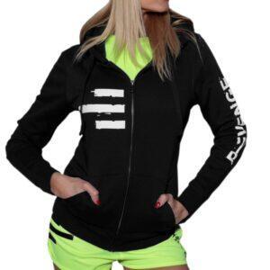 Sweatshirt femme fitness et free time noir