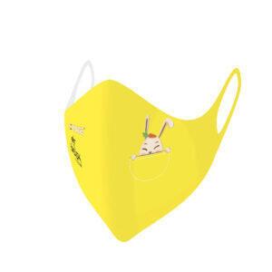 Máscaras de protección lavables covid-19 conejo Baby amarillo