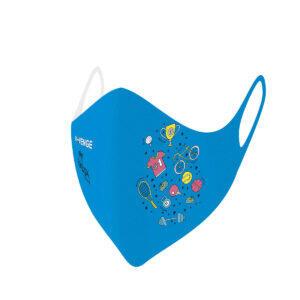 Máscaras de protección lavables covid-19 Kids Sport azul