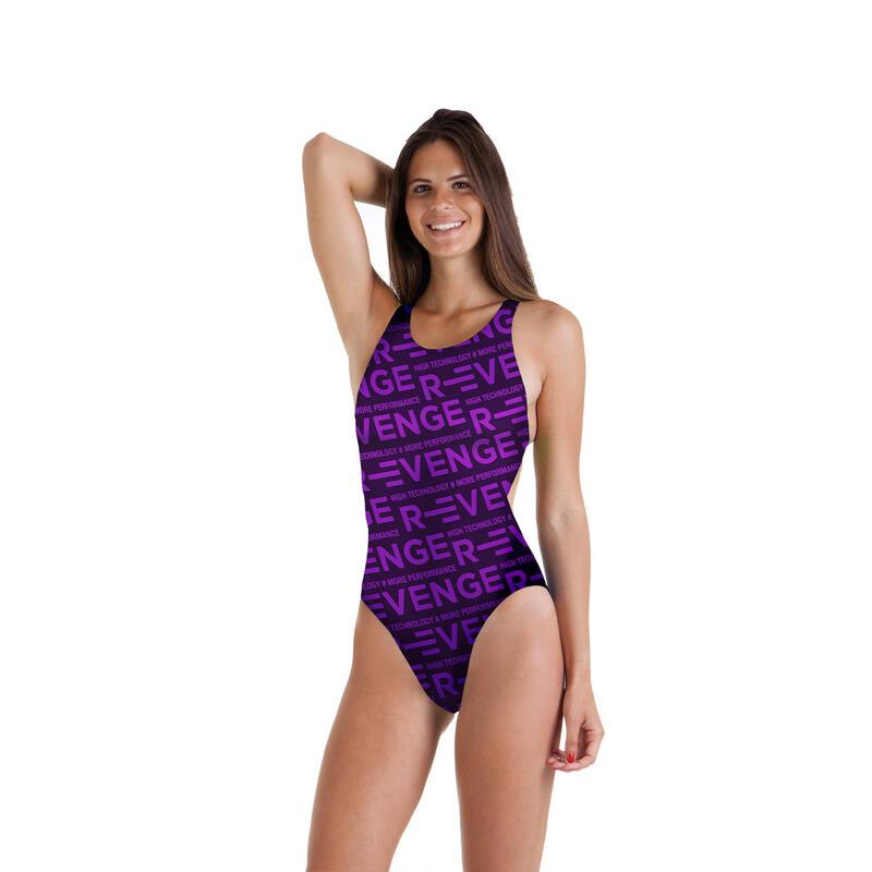 Costume intero bambina da piscina Classico R-evenge viola