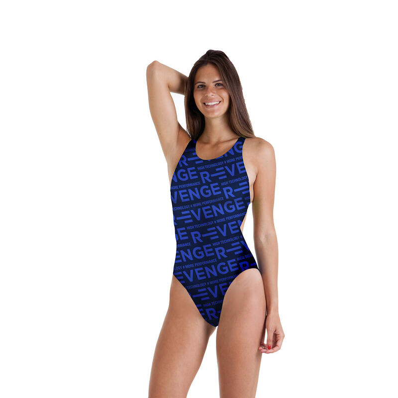 Costume intero donna da piscina Classico R-evenge Blu