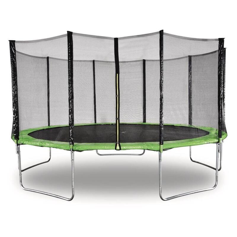 Trampoline  Yoopi  - Ø 4.60 m - Vert - Avec filet + échelle + couverture + kit