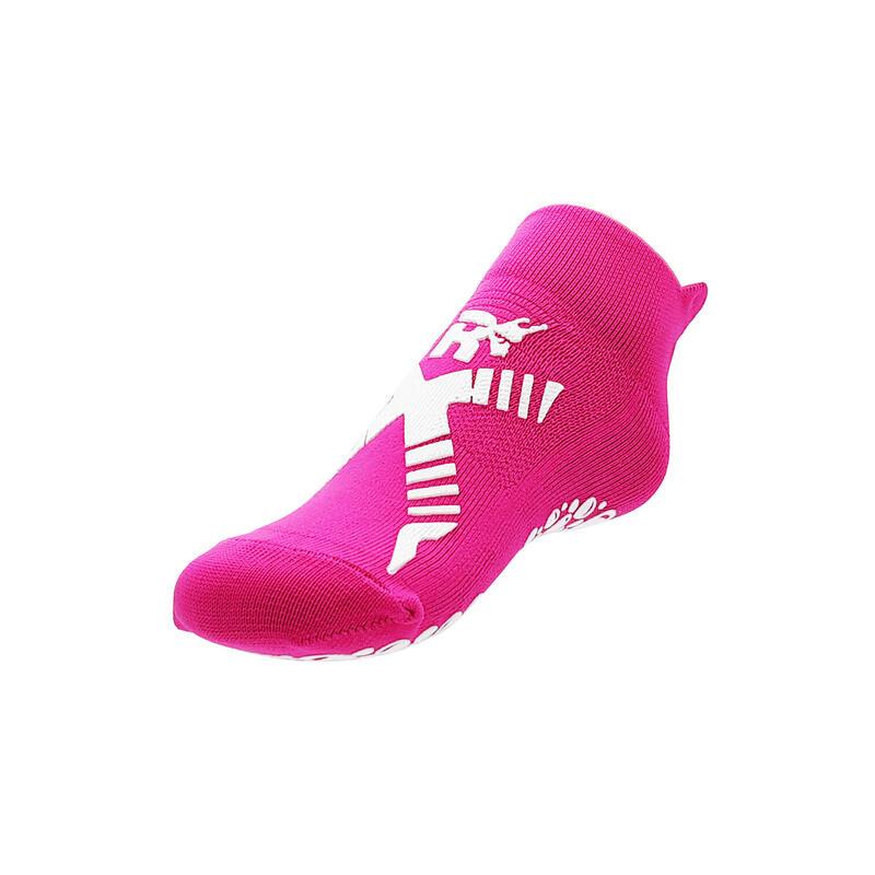 chaussettes de natation pour enfants piscine fuchsia blanches