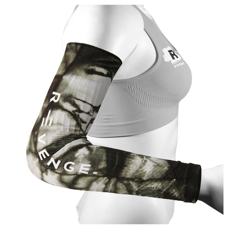 Arm Mangas para brazos adultos protección compresión ciclismo verde fluo