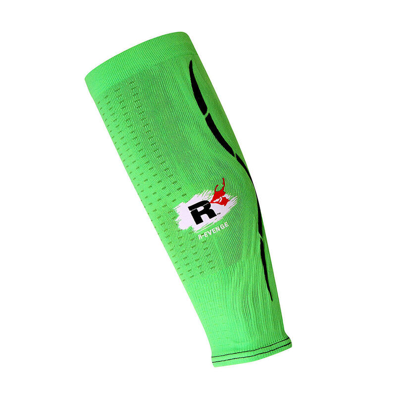 Calf para pantorrillas adultos protección de compresión Running verde fluo
