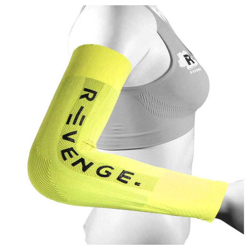 Arm Mangas para brazos adultos protección compresión amarillo fluo