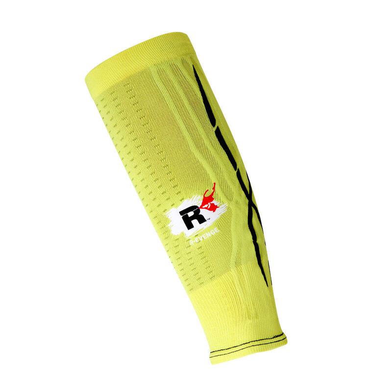 Calf para pantorrillas adultos protección de compresión Running amarillo fluo