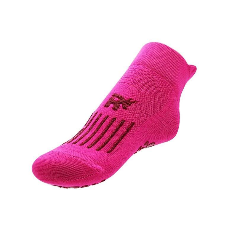 chaussettes gym  pour enfants pour la maison et l'école antidérapantes fuchsia