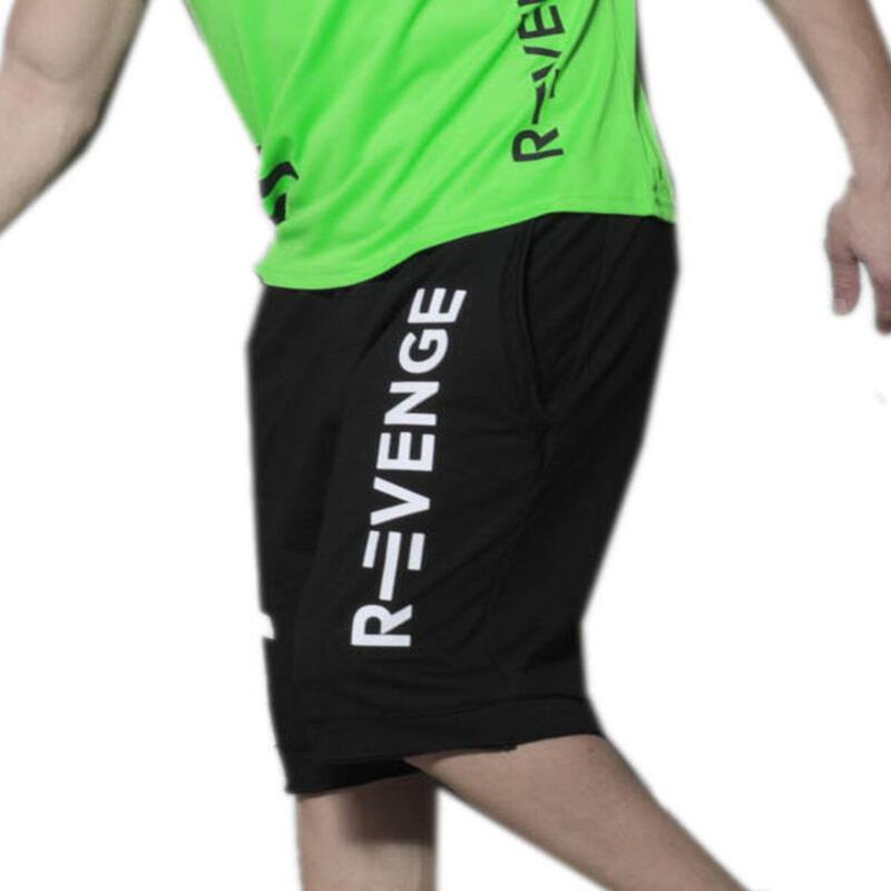 Bermuda para hombre fitness negras