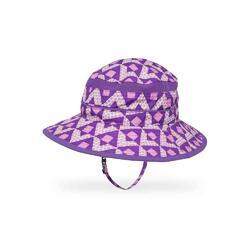 UPF50+ Kids Fun Bucket Hat Purple Dotamids L