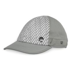 UPF50+ UV Shield Cool Cap Gray Electric Stripe