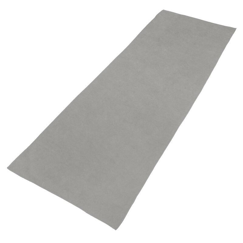 VirtuFit Premium Yogamat Handdoek - 183 x 61 cm - Natural Grey