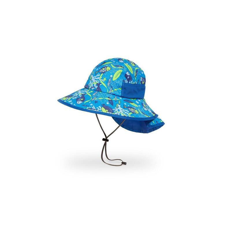 UPF50+ Kids Play Hat Aquatic L