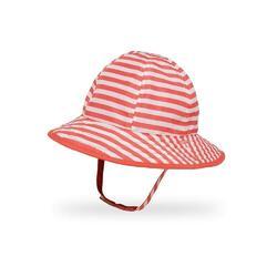 UPF50+ Infant SunSkipper Bucket Coral Stripe/Coral 6-12m