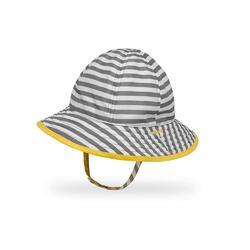 UPF50+ Infant SunSkipper Bucket Quarry Stripe/Lemon 6-12m