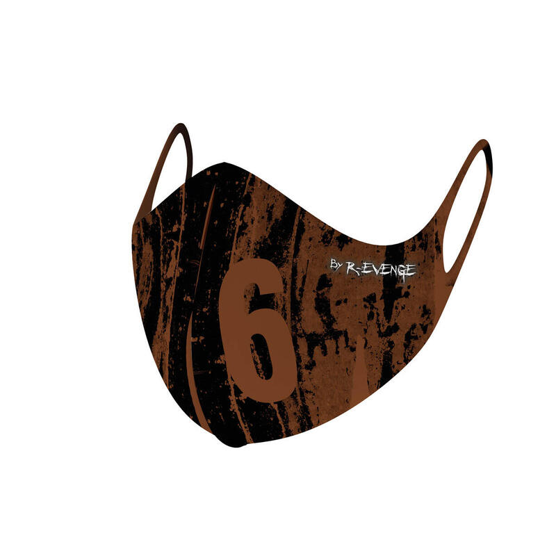 Masques barrières covid-19 homme lavables Superior Wall-6 marron