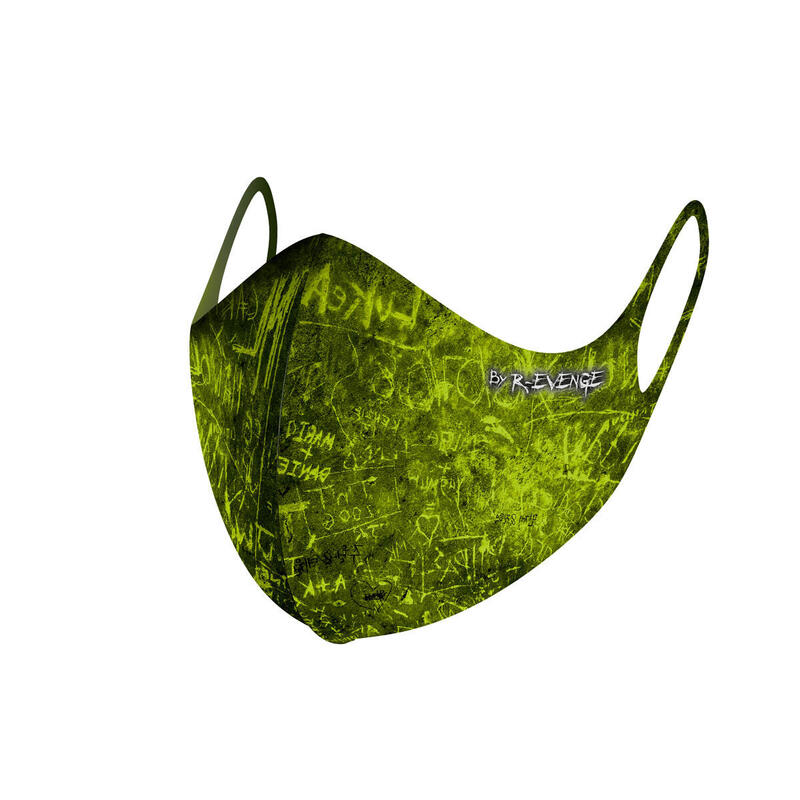 Máscara de barrera covid-19 lavable para hombre Superior Incision amarillo