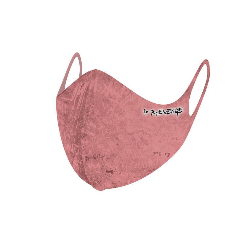 Máscara de barrera covid-19 lavable para mujer Superior Incision rosa