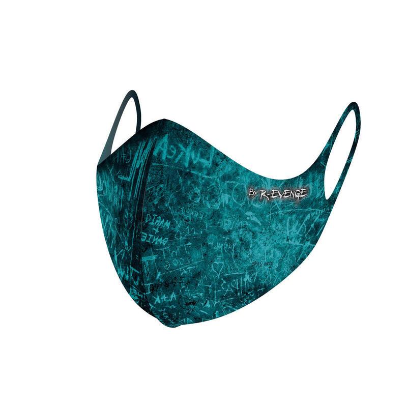 Máscara de barrera covid-19 lavable para hombre Superior Incision azul