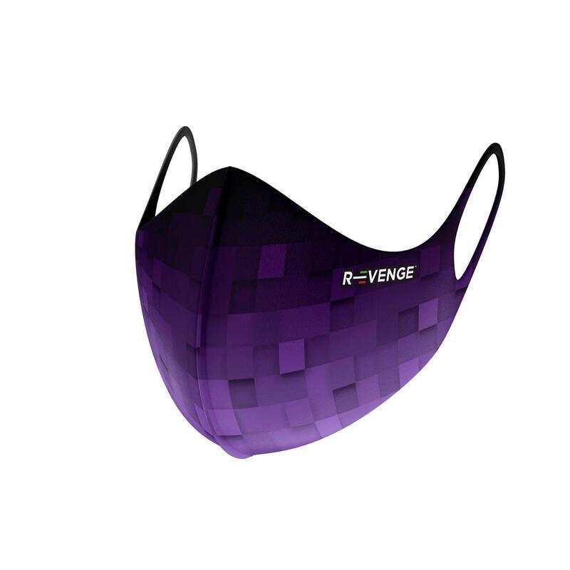 Masques barrières covid-19 femme lavables Advance Pixel violet