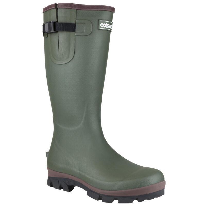 Grange Neoprene Mens Rubber Wellington Boots (Green)