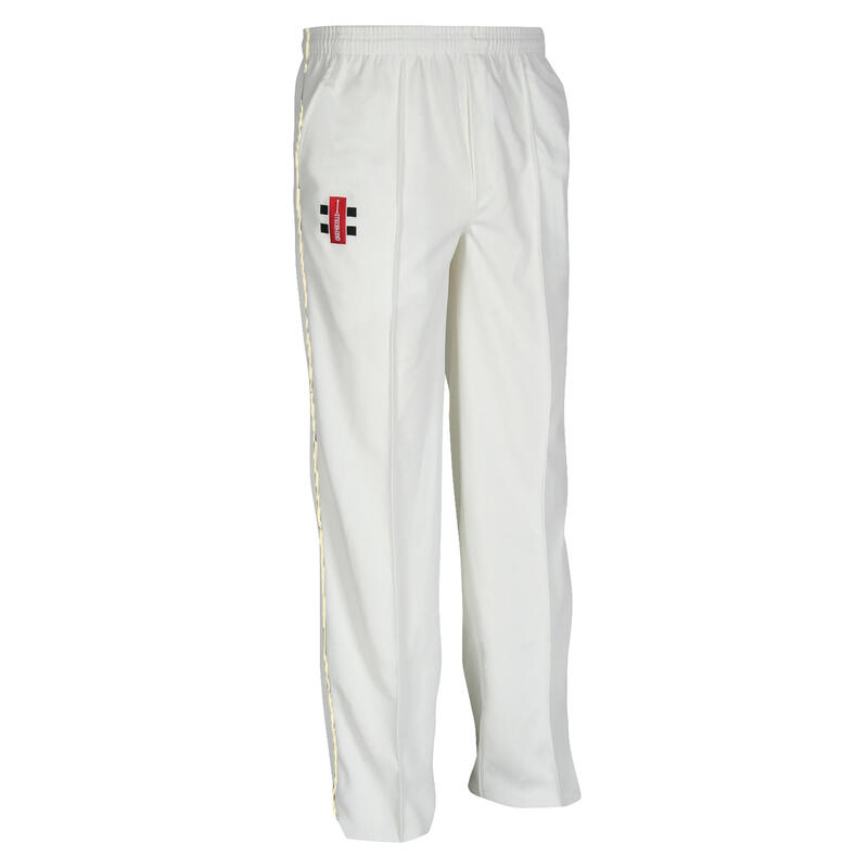 Children/Kids Matrix Cricket Trousers (Ivory)