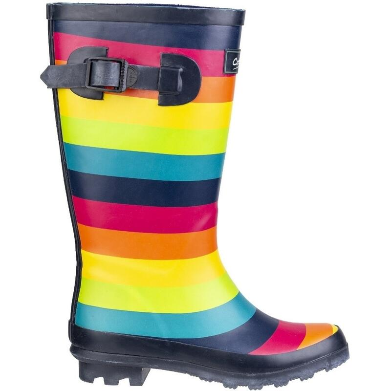 Children/Kids Rainbow Wellington Boots (Multicoloured)