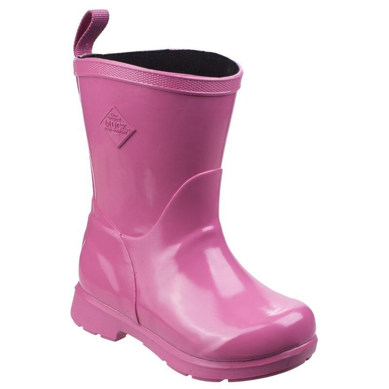 Childrens/Kids Bergen Mid Kids Lightweight Rain Boots (Pink)