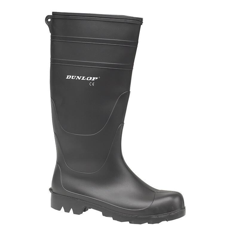 Universal PVC Welly / Mens Wellington Boots (Black)