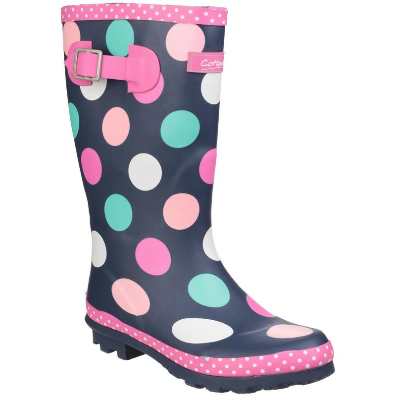 Childrens Girls Dotty Spotted Wellington Boots (Multicoloured)