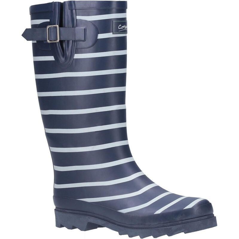 Womens/Ladies Sailor Rubber Wellington Boots (Navy)