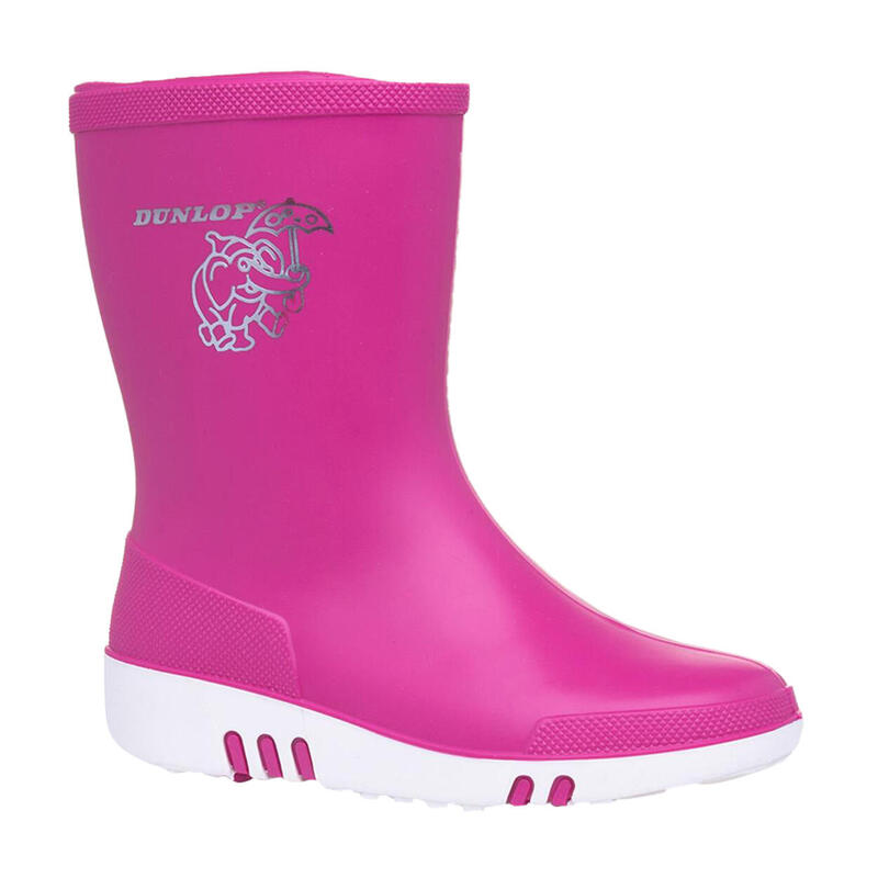 Childrens/Kids Mini Wellies (Pink)