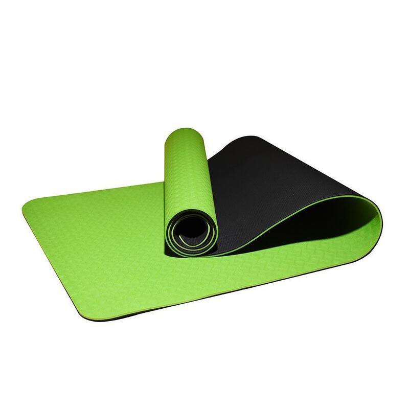 Tpe 2-Layer Yoga Mat 6mm Green/Black