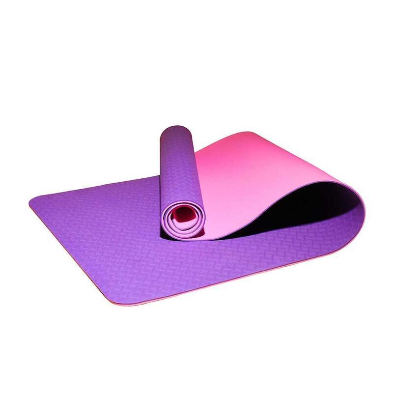 Tpe 2-Layer Yoga Mat 6mm Purple/Pink