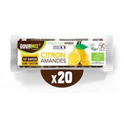 Barres citron - amandes  x20