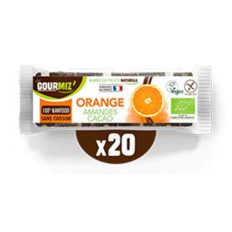 Barres orange - amande - cacao cru x20