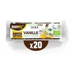 Barres vanille - noix de coco x20