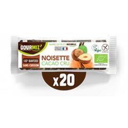 Barres noisette - cacao cru x20