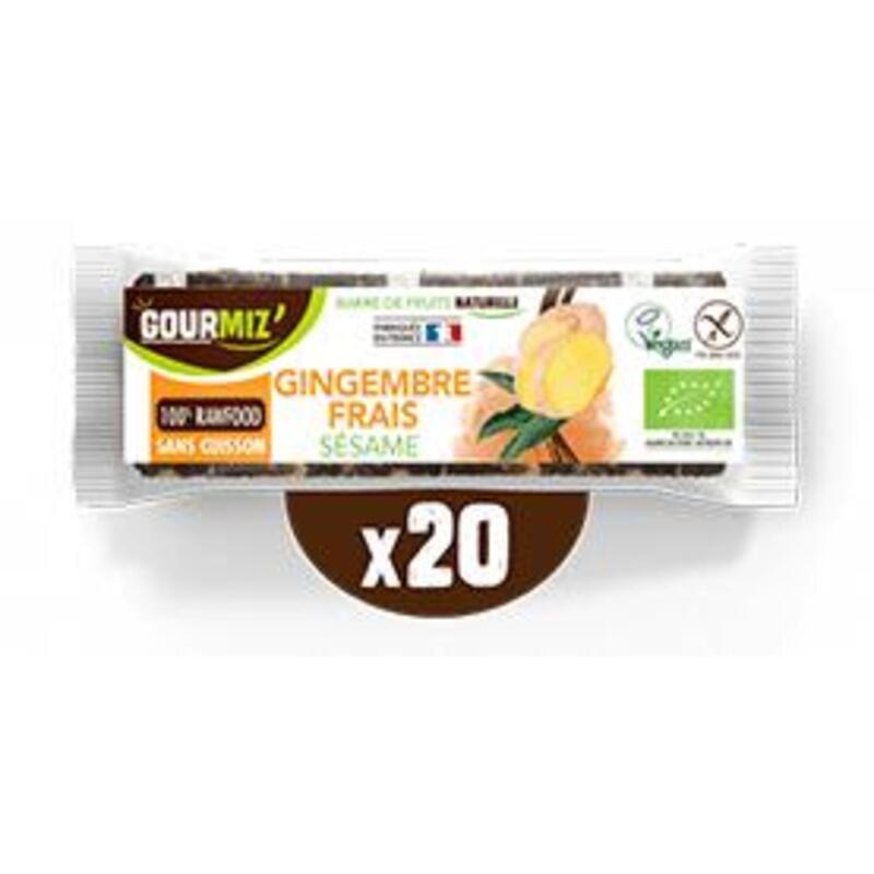 Barres gingembre frais - sésame x20