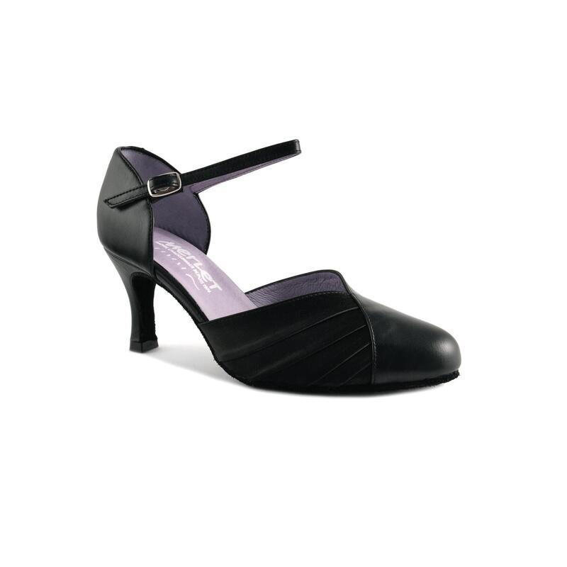 NILYA - Zapato de salón de piel con tacón recto