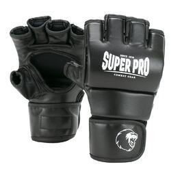 Super Pro Combat Gear Brawler MMA Handschoenen Zwart/Wit Small